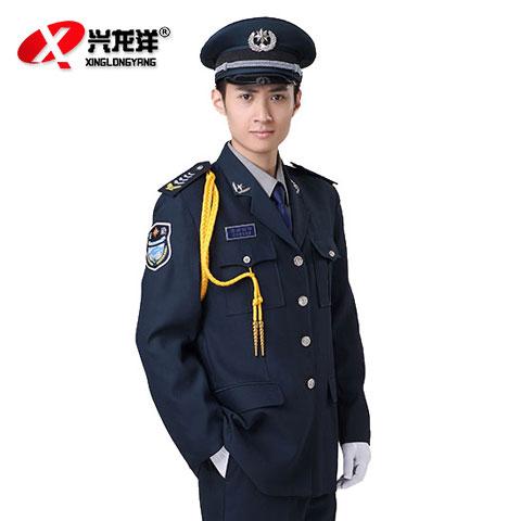 新式直筒式保安服  保安服秋冬套装 物业小区保安制服 长袖加厚保安服套装GZF454