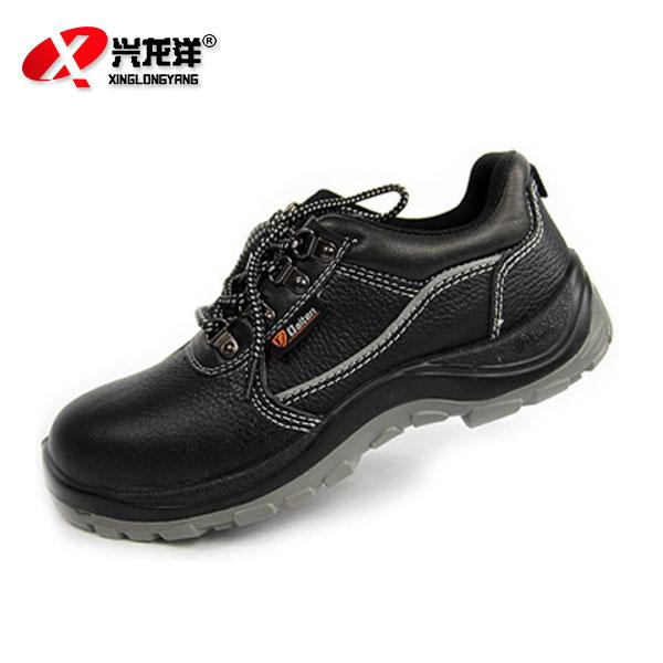 K0101黑色荔枝纹防砸劳保皮鞋FHX756