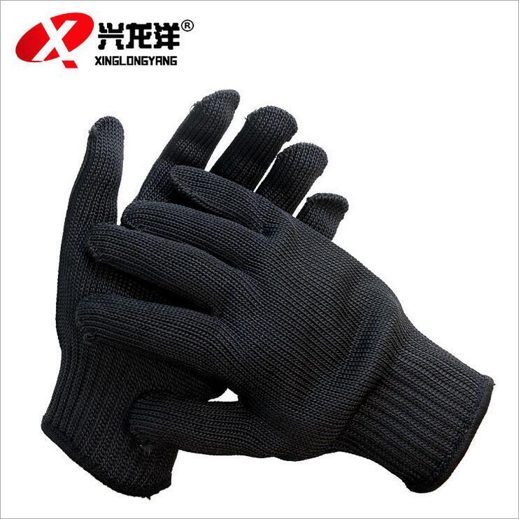 钢丝防割手套 防利刃玻璃划伤 防护手套黑色ST198