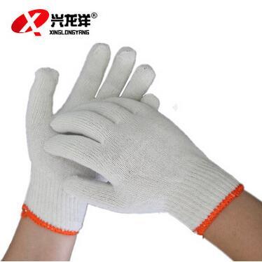 龙腾正品加厚白棉线手套劳保手套700gST273