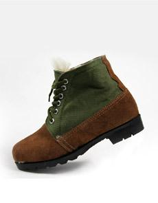 LTSS反绒双色拼布厚底高筒劳保鞋皮鞋