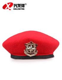 保安贝羊绒雷帽 保安物业工作帽 礼仪帽 演出蓓蕾帽子GZM011