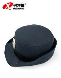 亚博体育ios版亚博体育app下载苹果保安服女士卷边帽 保安服装配件帽子 保安帽子四季通用BAM054