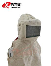 防沙面具 防护面罩 防护面具 喷砂帽 防砂帽 防尘全面具GZM017