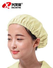 防静电帽 浴帽 女工帽 大小工帽 防尘无尘全橡筋工作食品卫生圆帽FJD835