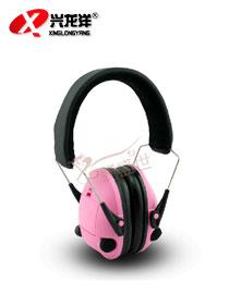 粉色电子隔音耳罩EZ067