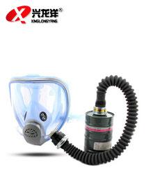 全封闭 防毒面具 导管 过滤罐防酸防有机气体 全面罩HX146