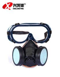 双罐<font color='red'>防尘口罩</font>面具 极细粉尘打磨劳保防护面具口罩HX159