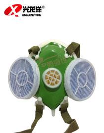 复式防尘专用口罩 防工业粉尘带过滤棉面具打磨水泥用HX136