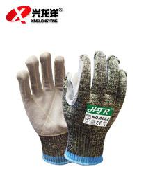 迷彩缝皮防割手套ST322