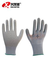 L508 十三针彩涤纶乳胶皱纹手套ST211