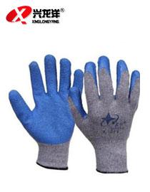 星宇L218浸胶手套 劳保手套 耐磨耐油防滑防切割灰沙蓝胶工作手套ST229