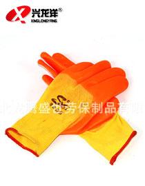 LTSS PVC半挂手套\防酸碱手套\劳保手套\防油\防水\防滑ST336