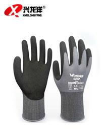 防滑耐油丁腈手套 橡胶劳保浸胶防油手套ST283