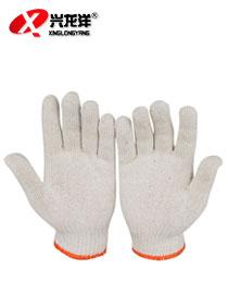 橙色边细纱手套 劳保手套 500g 600g棉纱手套ST293