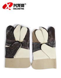 牛仔革手套电焊手套七彩手套海员手套全皮手套ST292