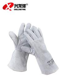 全牛皮长电焊手套 机械作业防护劳保手套ST279