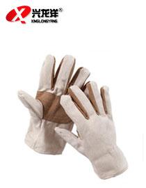 牛皮帆布作业手套(加厚)ST286