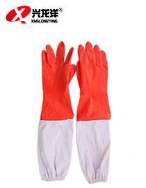 加长带袖PVC手套 48cm 酒店家用洗衣刷车水产 工业级耐磨耐油酸碱ST289