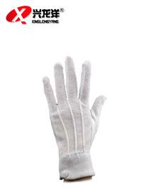 纯棉带扣礼仪手套ST248