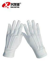 白色涤棉布无扣礼仪手套ST276