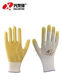 P508 十三针白尼龙PVC手套ST205