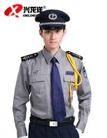 新式灰色 保安服长袖衬衣 保安服夏装 物业小区保安工作服灰色GZF450