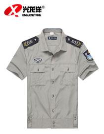 批发新式短袖灰色保安衬衣保安服物业酒店保安制服保安衬衫可定制GZF349