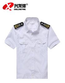 供应批发新款夏季保安服保安衬衣服白色短袖保安衬衫保安制服定制GZF351