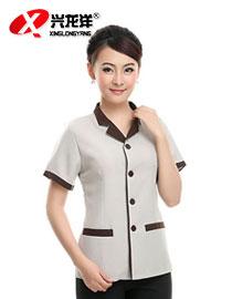 保洁工作服短袖 保洁服夏装 酒店客房服务员服装 物业宾馆制服女GZF438