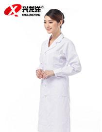 白细斜长衣长袖大褂JD890