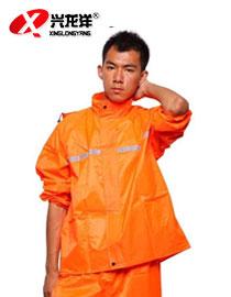 环卫分体雨衣套装男橘红色防水工作服反光条分雨衣GZF398