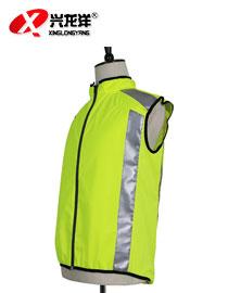 夜间骑行安全服 男女时尚圆领短袖拉链款 高艳亮高反光GZF373
