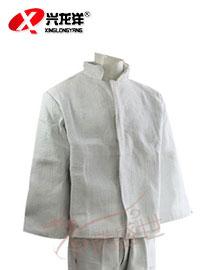 白色斜纹纱卡面料工作服GZF466