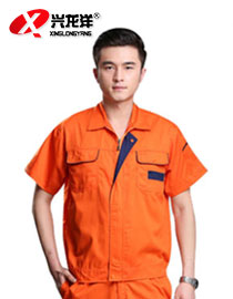 工作服短袖套装男 汽修服工程服 工衣厂服 夏季工作服 工装定做GZF443