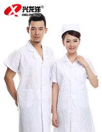 医用白大褂短袖女夏装 实验室医生工作服 护士服医师美容师服装男GZF431