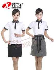 酒店夏季工作服短袖 套装男 餐厅服务员夏装GZF500