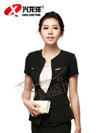 订做职业装女装套装套裙修身短袖时尚酒店工作服GZF507
