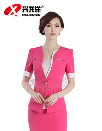2014夏装新款OL职业套装女装时尚 短袖修身GZF513