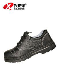 2016厂家销售专柜正品透气型防砸黑皮<font color='red'>劳保鞋</font>/新款劳保防护鞋FHX667