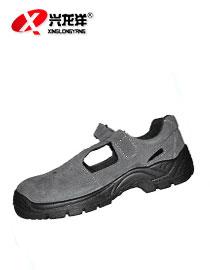 2016<font color='red'>劳保鞋</font>透气孔牛反绒毛凉鞋防臭防砸防刺工作安全防护鞋FHX675