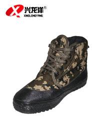 2016批发冬季加厚保暖棉劳保鞋防水迷彩鞋军训解放鞋厂家直销FHX680