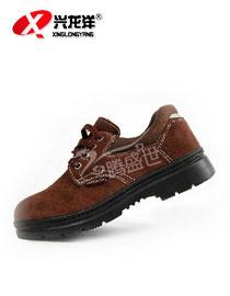 棕色防砸 荔枝纹低帮劳保鞋<font color='red'>安全鞋</font> 防滑耐磨耐酸碱工作鞋防护鞋FHX703