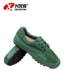 迷彩鞋-迷彩劳保鞋布鞋-低帮绿色FHX767