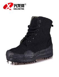 2016专柜正品兴龙洋3520高帮作训鞋解放鞋军训练鞋保安鞋黑色高腰FHX681