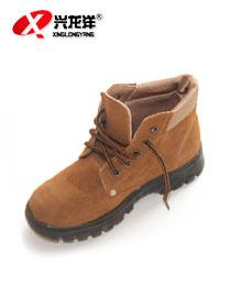 电焊工工作鞋 高帮防砸钢包头真皮耐磨安全防护鞋FHX713