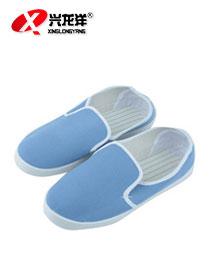 防静电鞋 无尘鞋 白色帆布防尘工作鞋蓝色无尘净化鞋实验室食品鞋FJD851