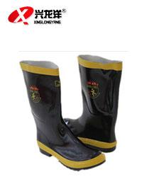 消防员灭火消防靴子抢险救援防护胶靴防砸防刺鞋钢板底救援XF899