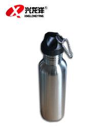 银色金属不锈钢 户外休闲运动旅行水壶HW922