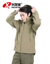 供应户外健身运动服超大码保暖挡风跑步男款休闲运动外套带帽HW913